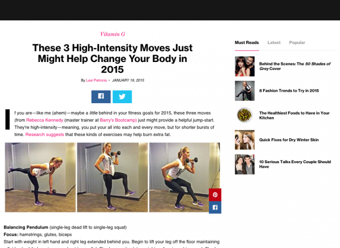 Press - RK Fitness • Rebecca Kennedy